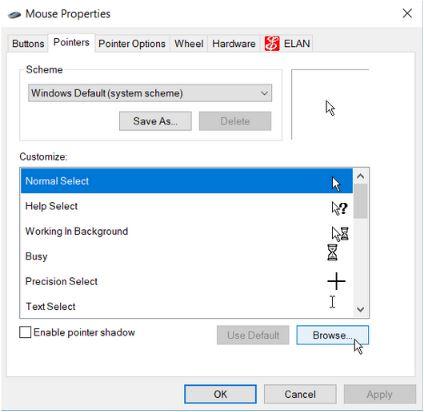 5 روش تغییر رنگ و اندازه اشاره گر ماوس در ویندوز 10
