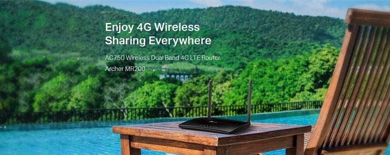 TP-LINK Archer MR200 AC750 Wireless Dual Band 4G LTE Modem Router